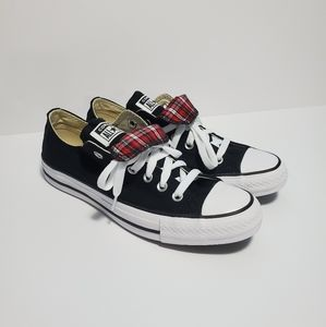 CONVERSE CHUCK TAYLOR DOUBLE TONGUE LOW TOP SHOES